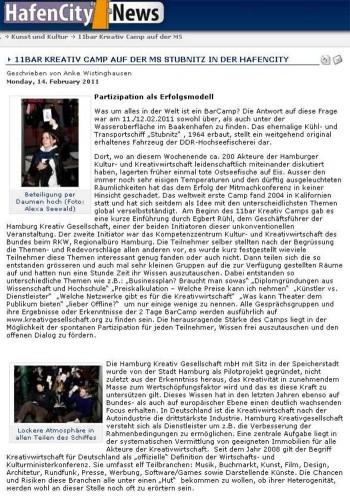 Hafen City News 2011-02-14