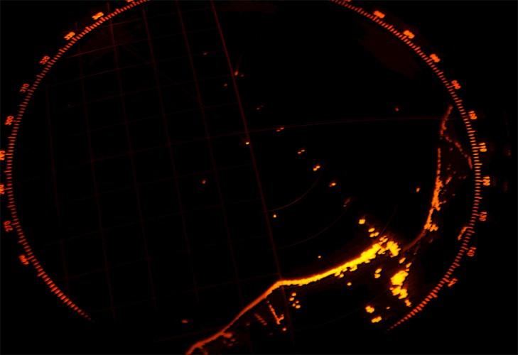 Rostock coast-line on radar
