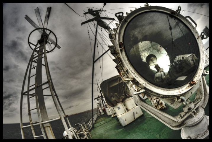 M/V Stubnitz on the open sea