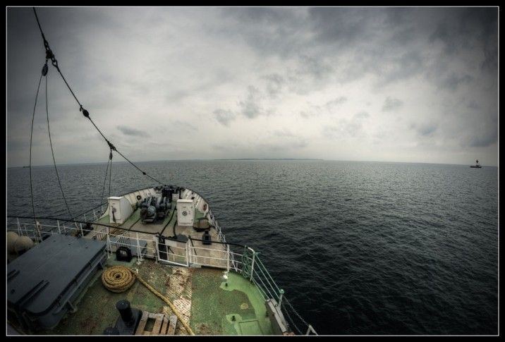 Stubnitz on the open sea